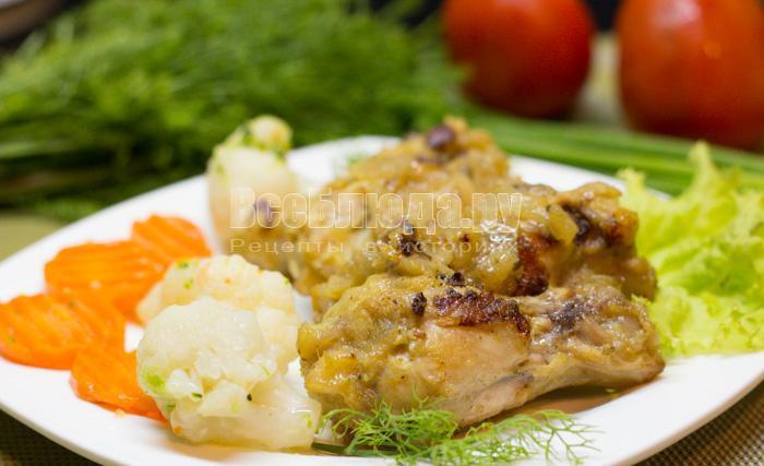 рецепт куриных крыльев в йогуртовом соусе с луком