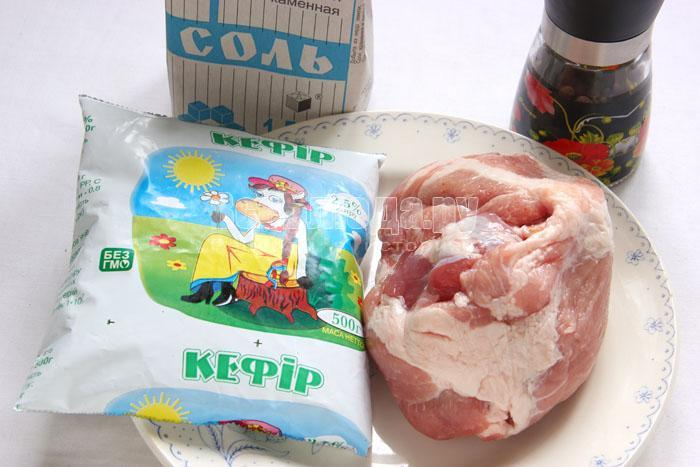 продукты для запеченной свинины в духовке