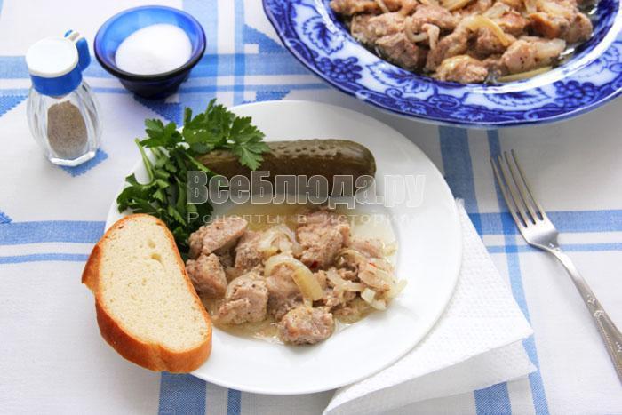 Свинина, маринованная в кефире и запеченная в духовке