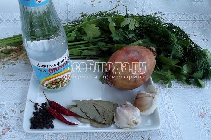 готовим ингредиенты для маринада