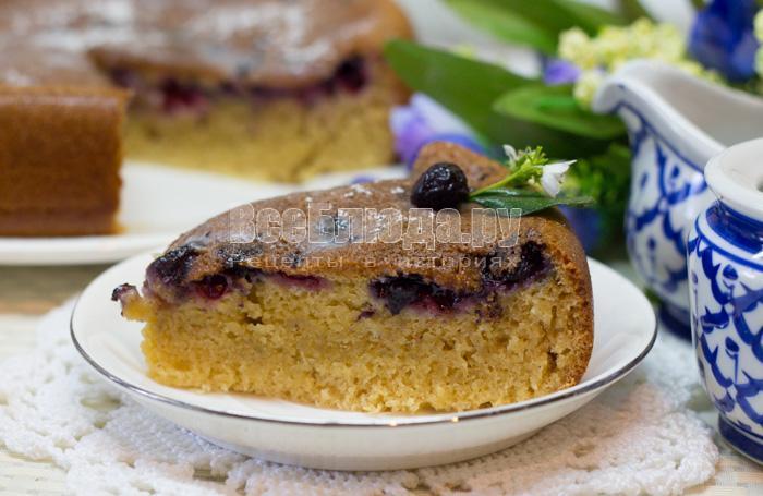 ягодный пирог на кефире