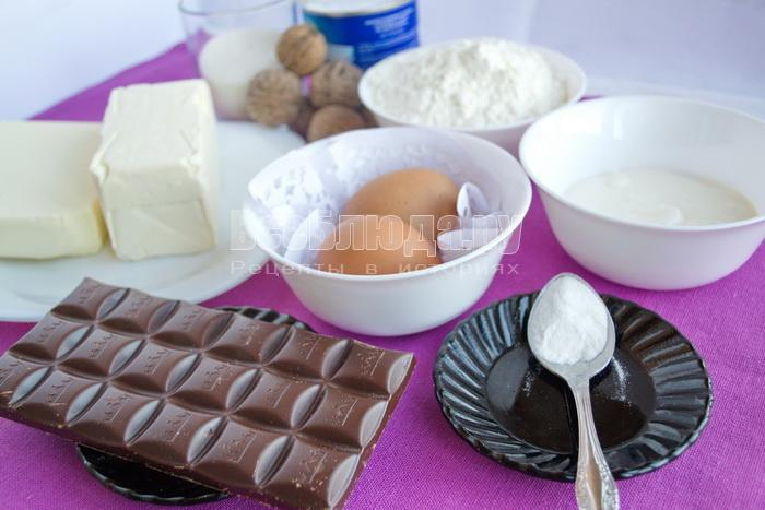 ингредиенты для торта вулкан
