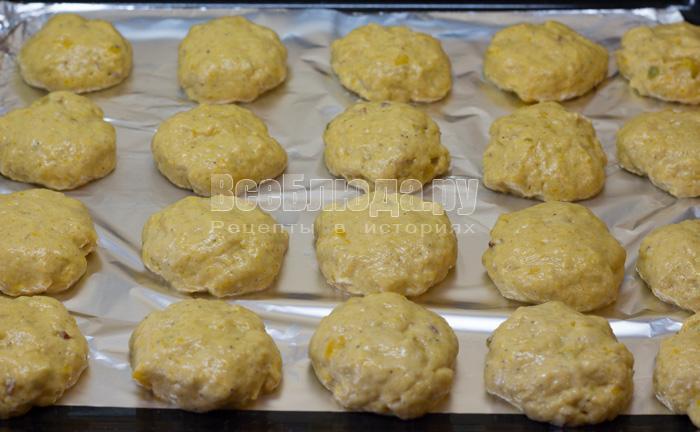 Тыквенное печенье с орешками