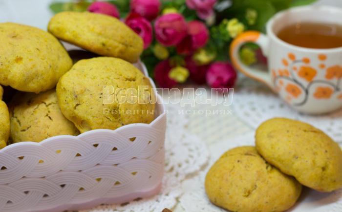 тыквенное печенье с орешками и корицей