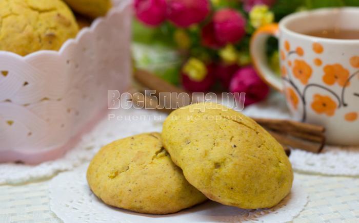 как сделать тыквенное печенье рецепт с фото