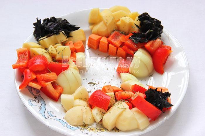 нарезаю овощи