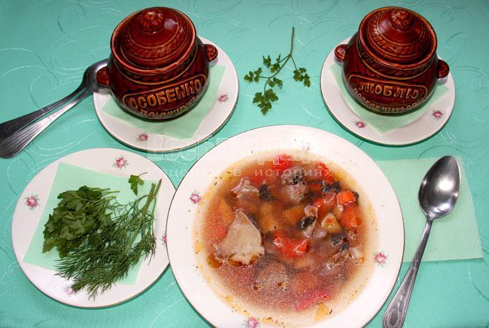 порция шурпы с бараниной