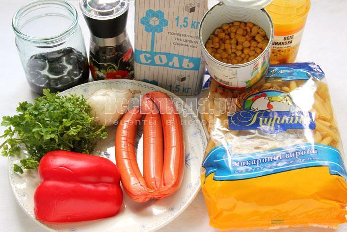 продукты для макаронного салата