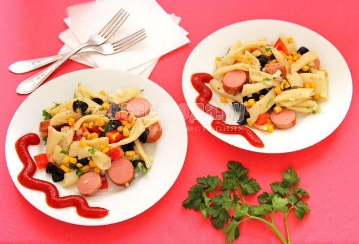 макаронный салат рецепт с фото