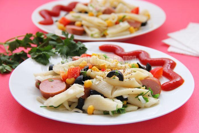 рецепт макаронного салата