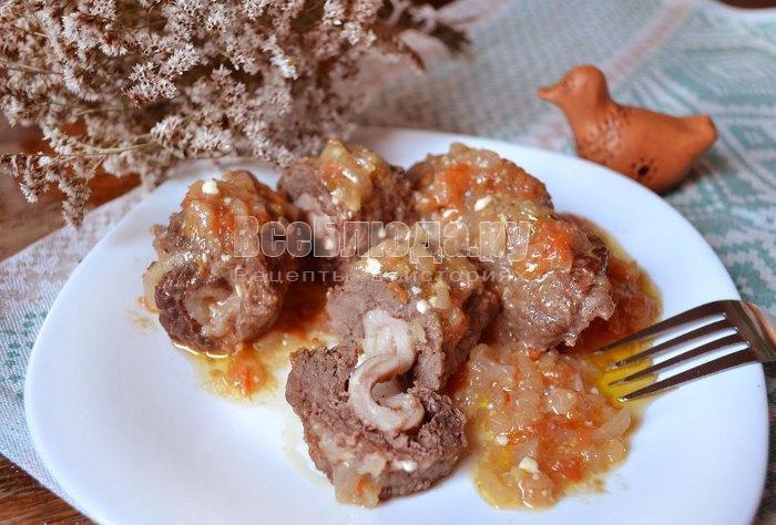 рецепт мясных рулетиков с салом