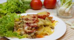 Запеканка с картошкой и грибами