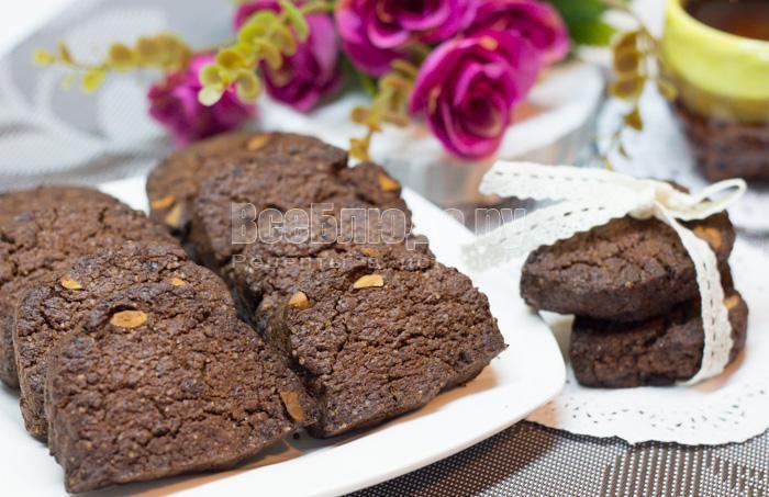 рецепт пряного шоколадного печенья