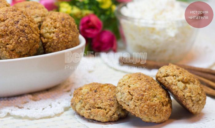 рецепт печенья из овсянки и творога