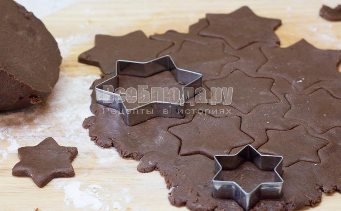 Елочка из шоколадного печенья с айсингом