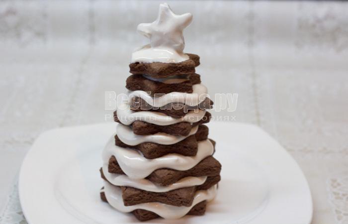 елочка из печенья готова