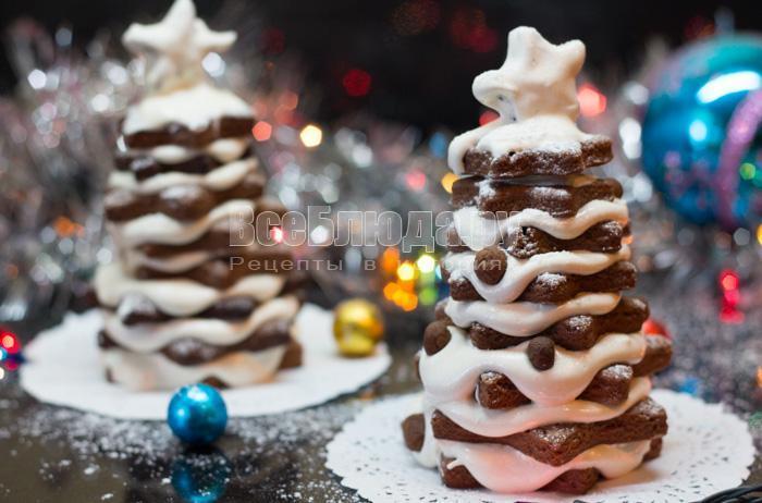 как сделать елочку из печенья