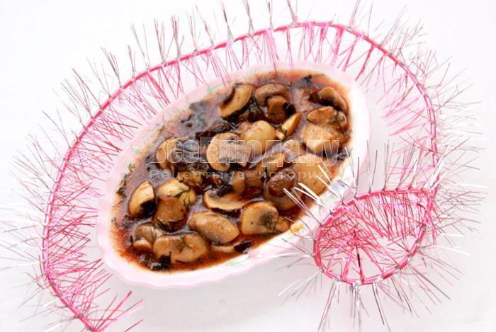 грибы в вине