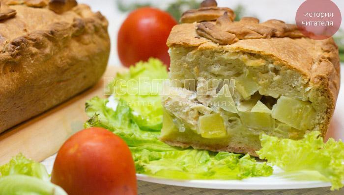 рецепт курника с картошкой