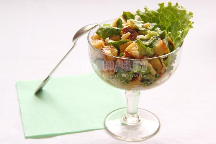 салат цезарь классический рецепт с фото