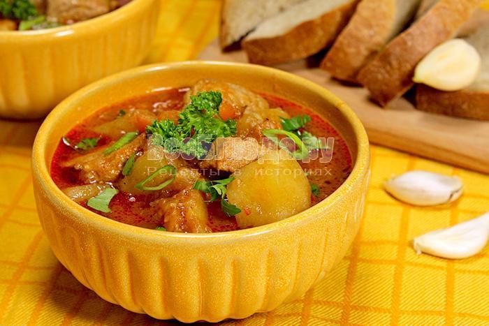 суп гуляш, венгерский рецепт