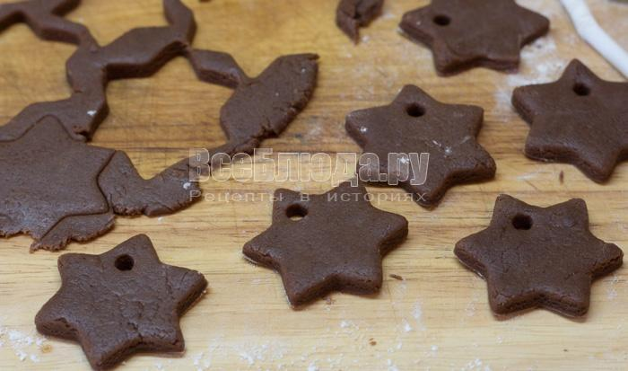 Простое печенье на елку Новогодние Звездочки