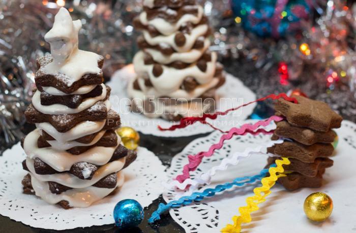 елочное печенье