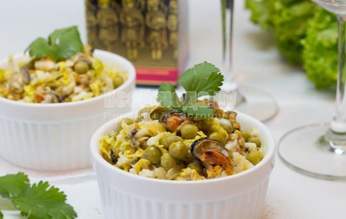 рецепт салат капуста зеленый горошек