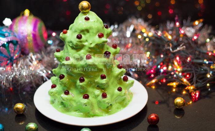 торт ёлка новогодняя