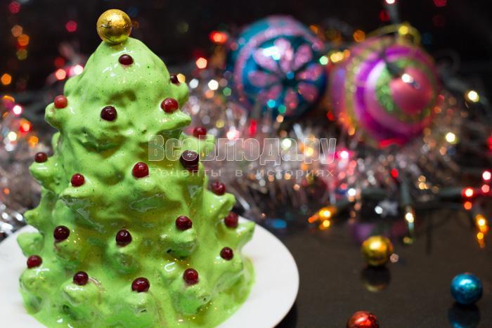 новогодний торт елочка на стол