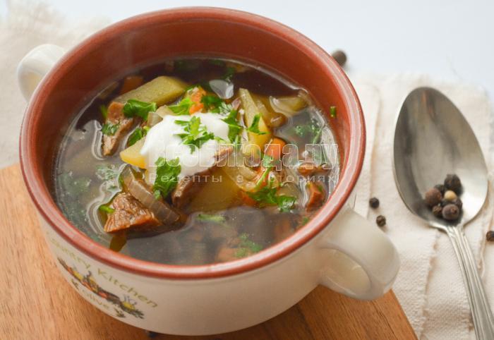 рецепт супа с сушеными белыми грибами