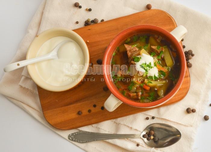 суп с сухими белыми грибами