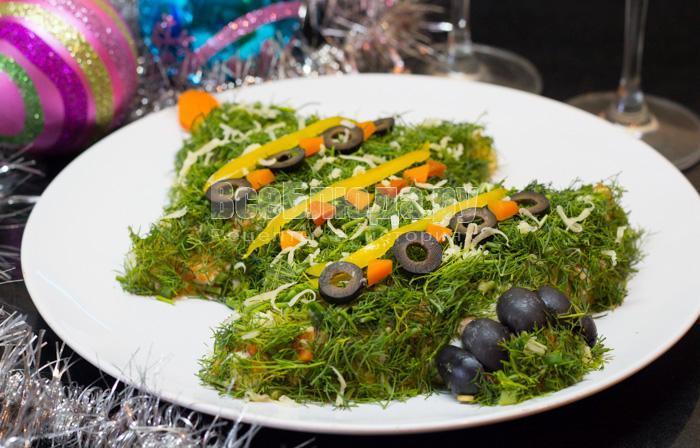 салат на новый год с фото 2014