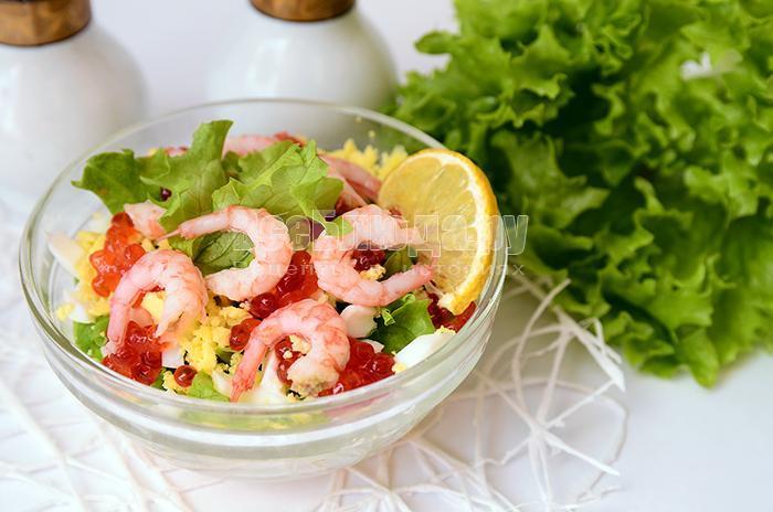 морской салат с креветками