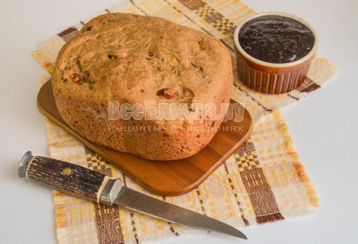 рецепт хлеба с курагой