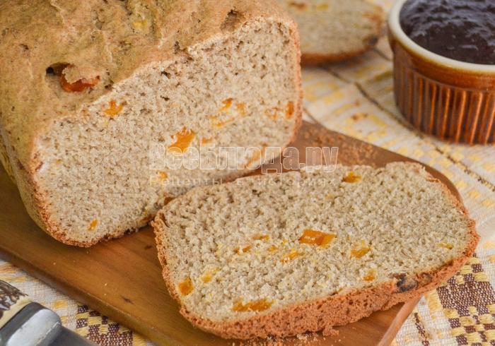 как испечь хлеб с курагой