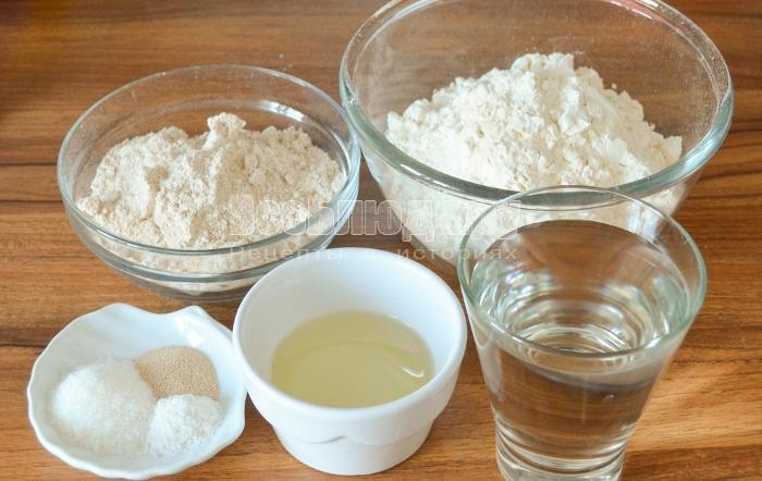 ингредиенты для хлеба с овсянкой