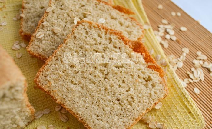 готовый овсяный хлеб