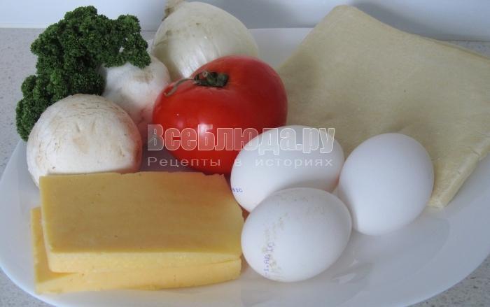ингредиенты для необычной яичницы