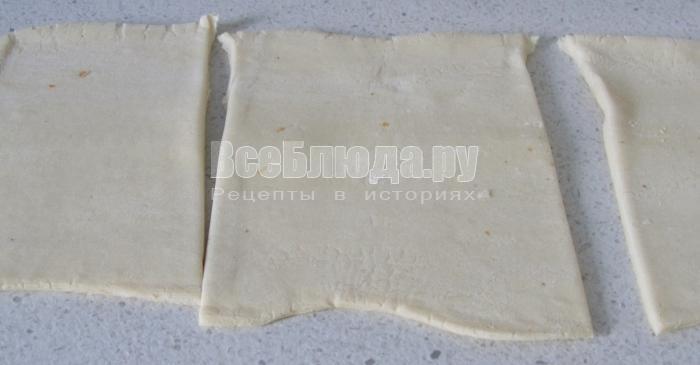 порезать слоеное тесто