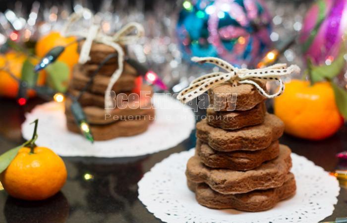 новогоднее печенье на подарки