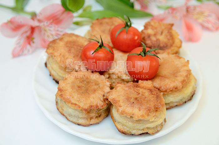 рецепт закуски в вафельном стаканчике с рыбой и овощами