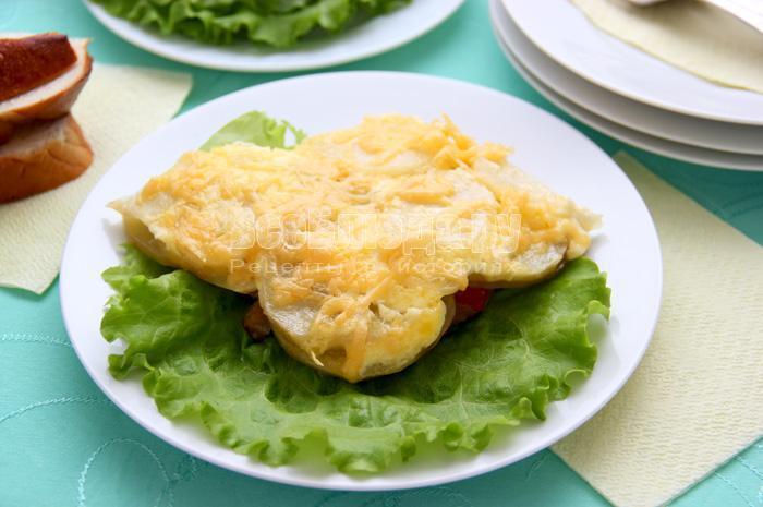 мясо в картофелем в духовке рецепт с фото из свинины и грибов