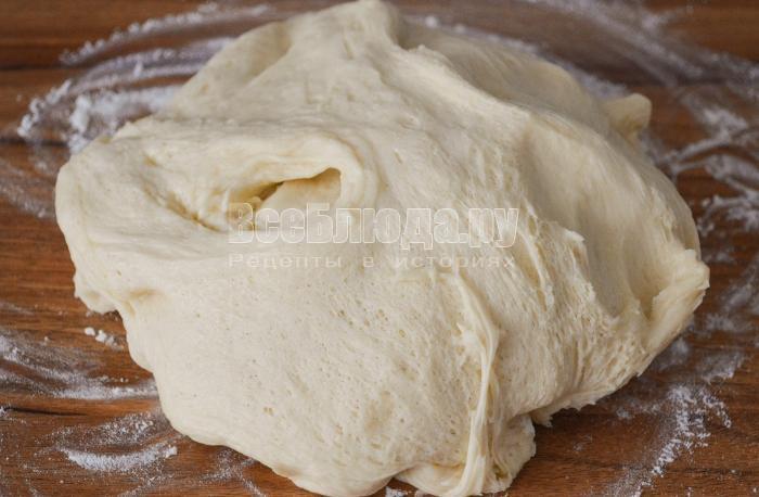 опустить тесто