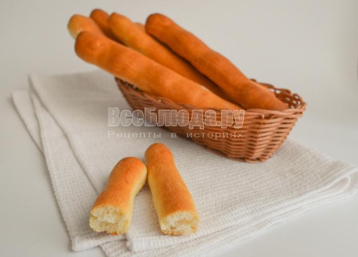 Рецепт хлебных палочек из дрожжевого теста