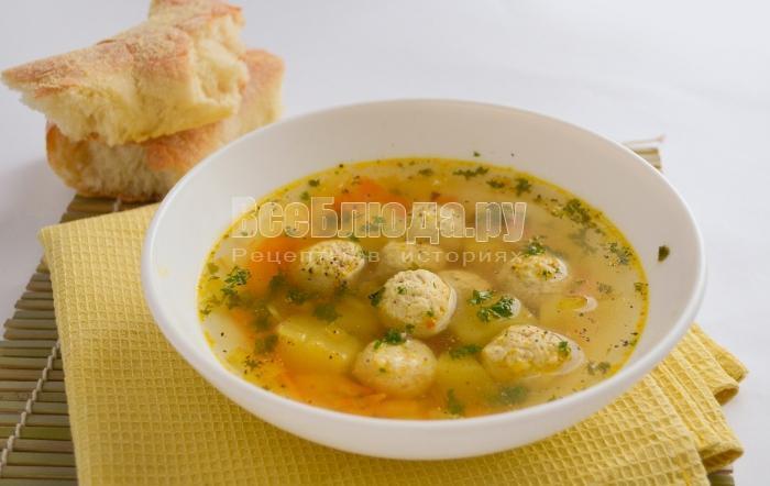 рецепты супа с мясными фрикадельками с корнем сельдерея