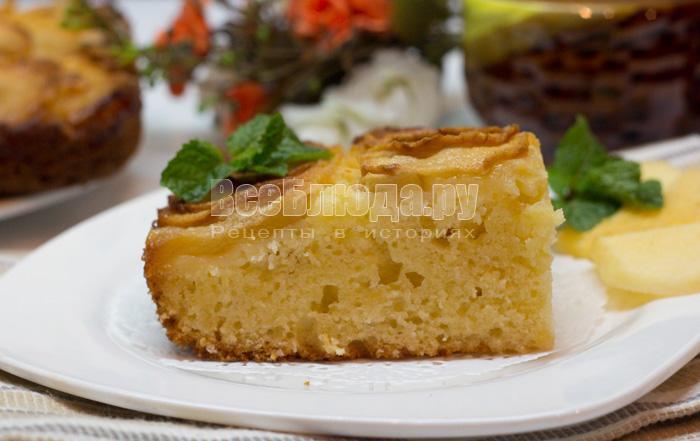 как приготовить творожный пирог с творогом и яблоками