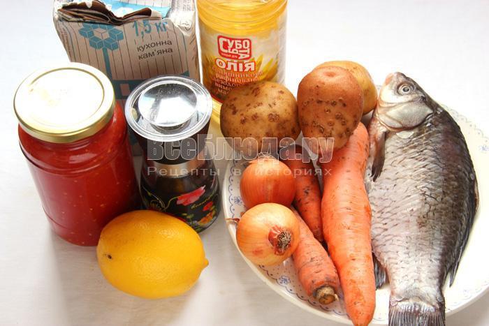 продукты для тушения карасей