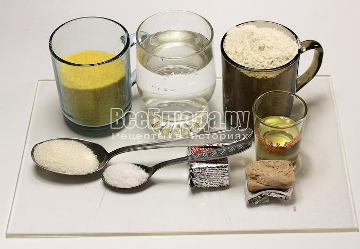 ингредиенты для выпечки хлеба