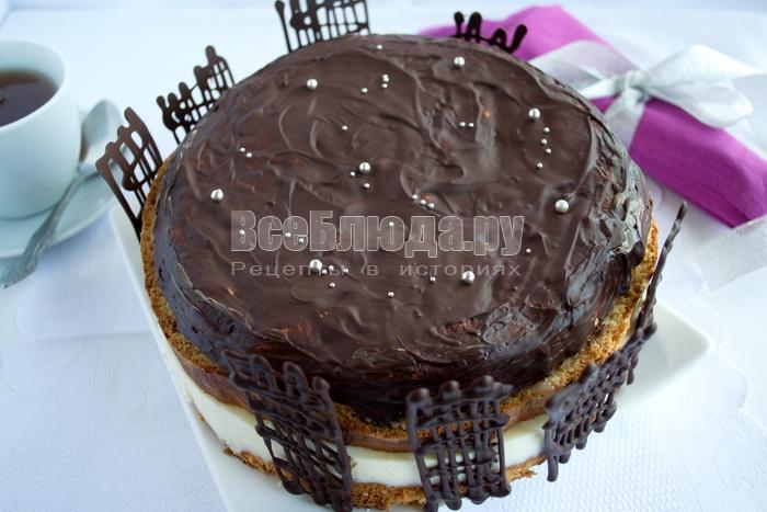 рецепт бисквитного торта со сметанным желе